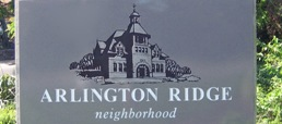 Arlington Ridge neighborhood sign